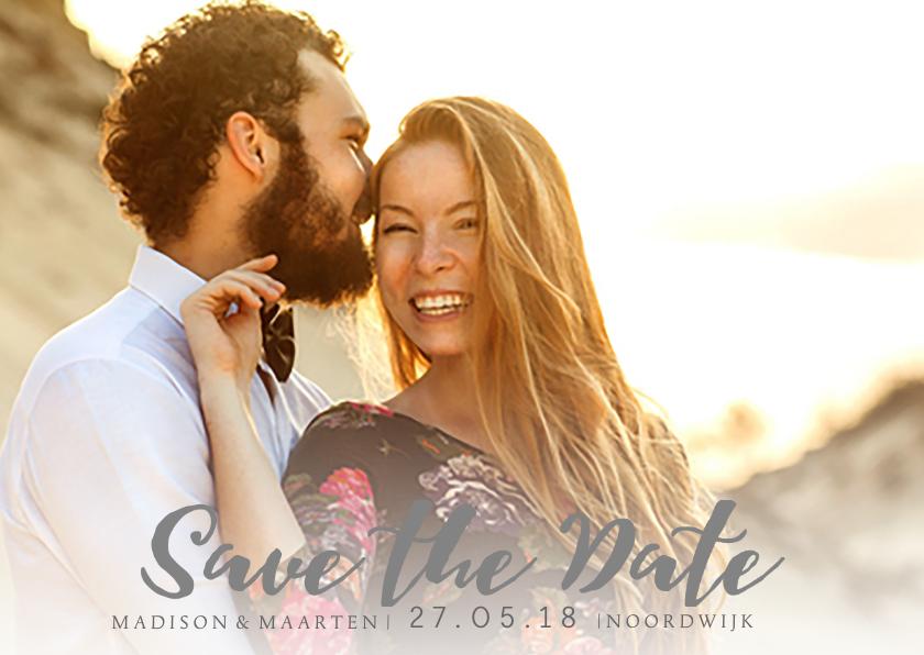 Trouwkaarten - Save the Date modern lettertype