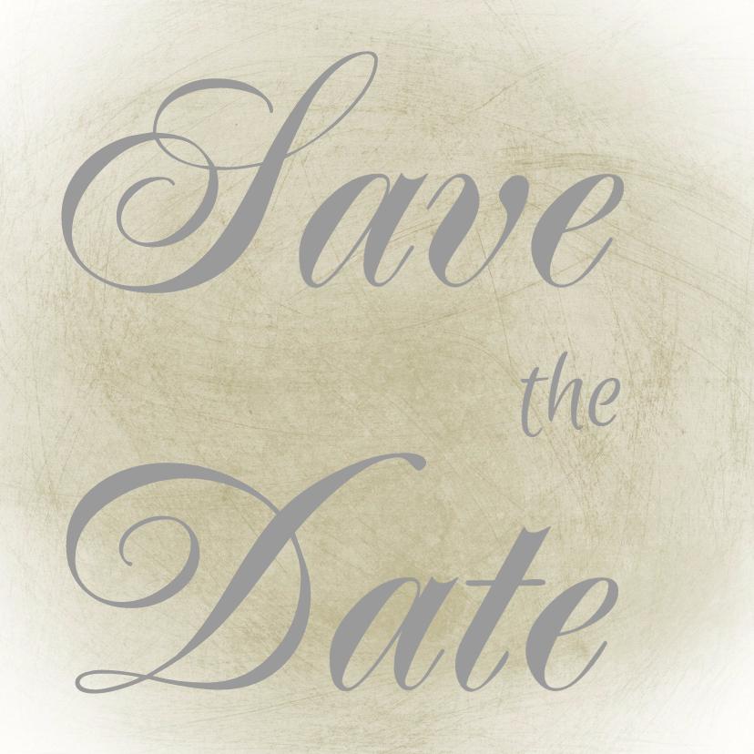 Trouwkaarten - Save the Date romatisch