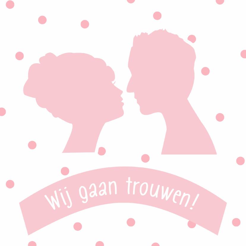 Trouwkaarten - Save the Date silhouetten - DH