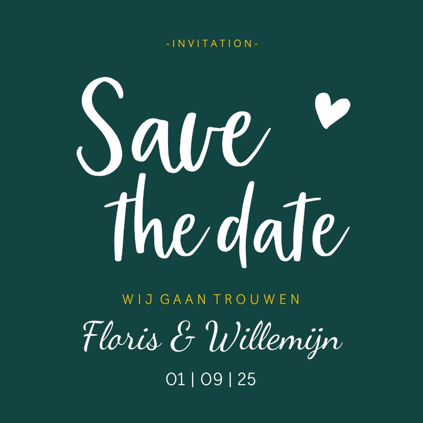Trouwkaarten - Save the date - stijlvol met namen