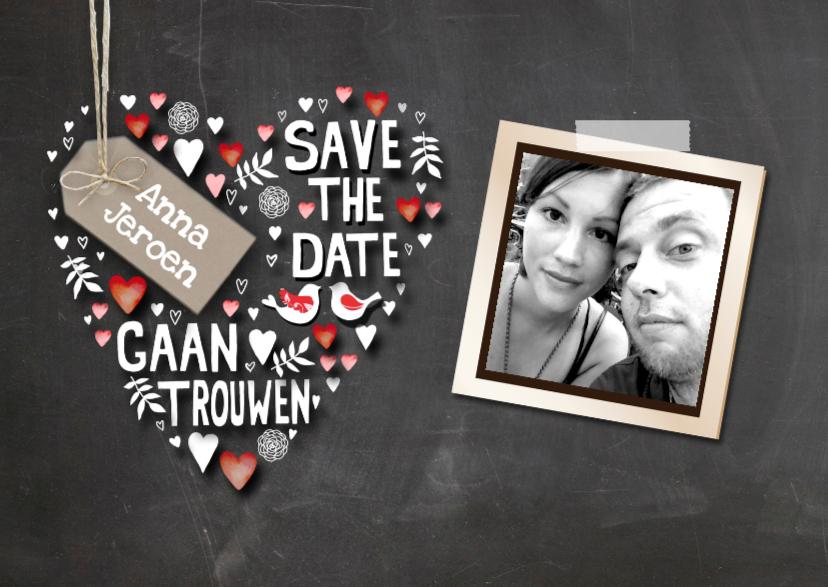 Trouwkaarten - Save The Date tekst