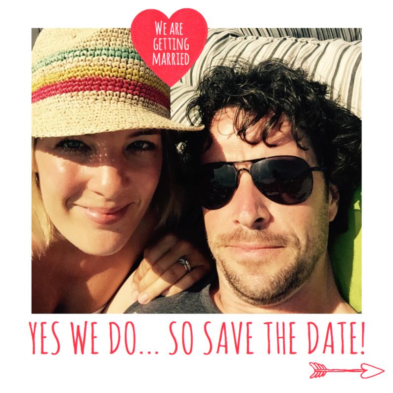 Trouwkaarten - Save the date trouwkaart hartje