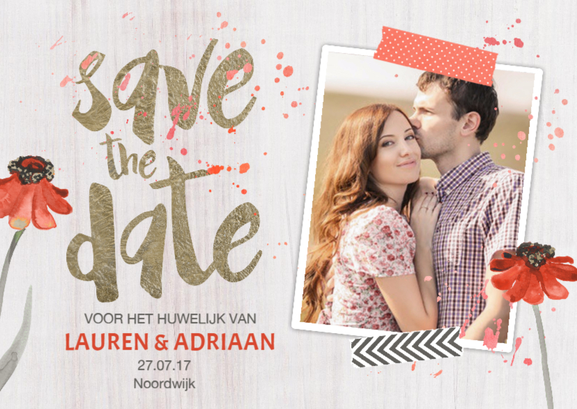 Trouwkaarten - Save the Date voorjaar