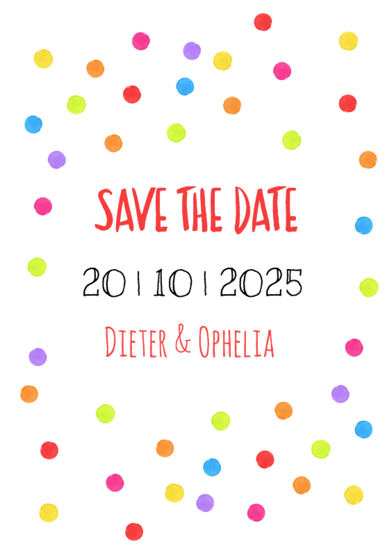 Trouwkaarten - Save the date watercolor - DH