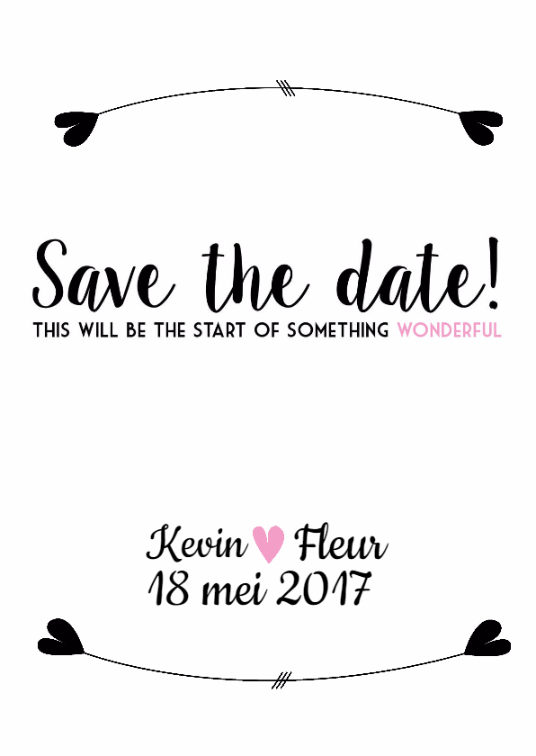 Trouwkaarten - Save the Date - Wonderful