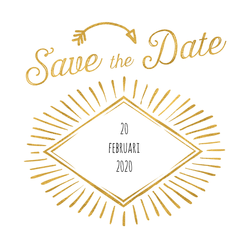 Trouwkaarten - SavetheDate retro hip OT