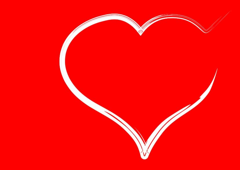 Trouwkaarten - Spontaan hart