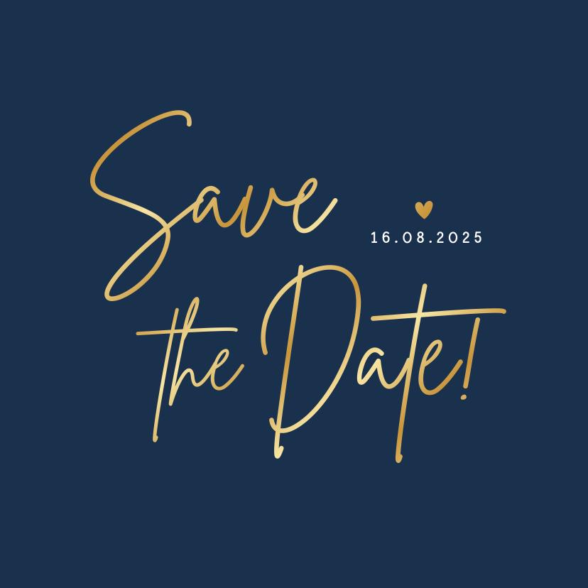 Trouwkaarten - Stijlvolle minimalistische Save the Date kaart met datum