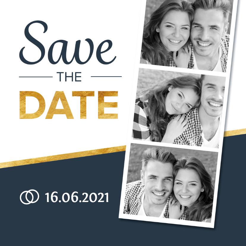 Trouwkaarten - Stoere en strakke Save the Date