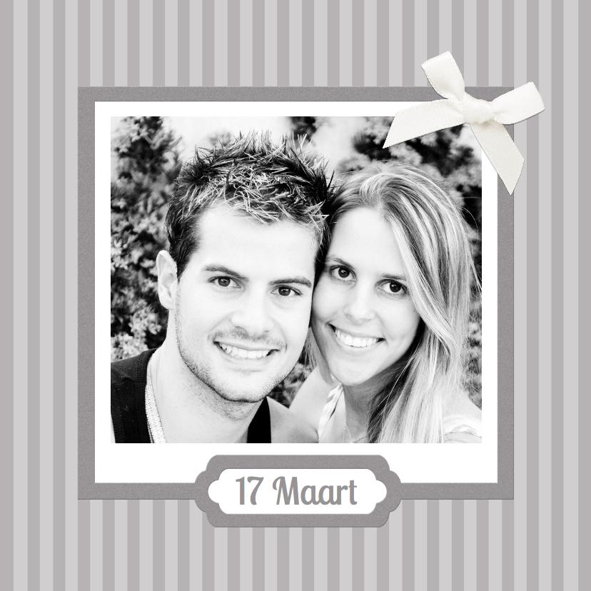 Trouwkaarten - Traditioneel trouwen grijs 1LS3