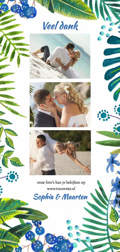 Trouwkaarten - Tropical Bedankt Bruiloft Trouwen