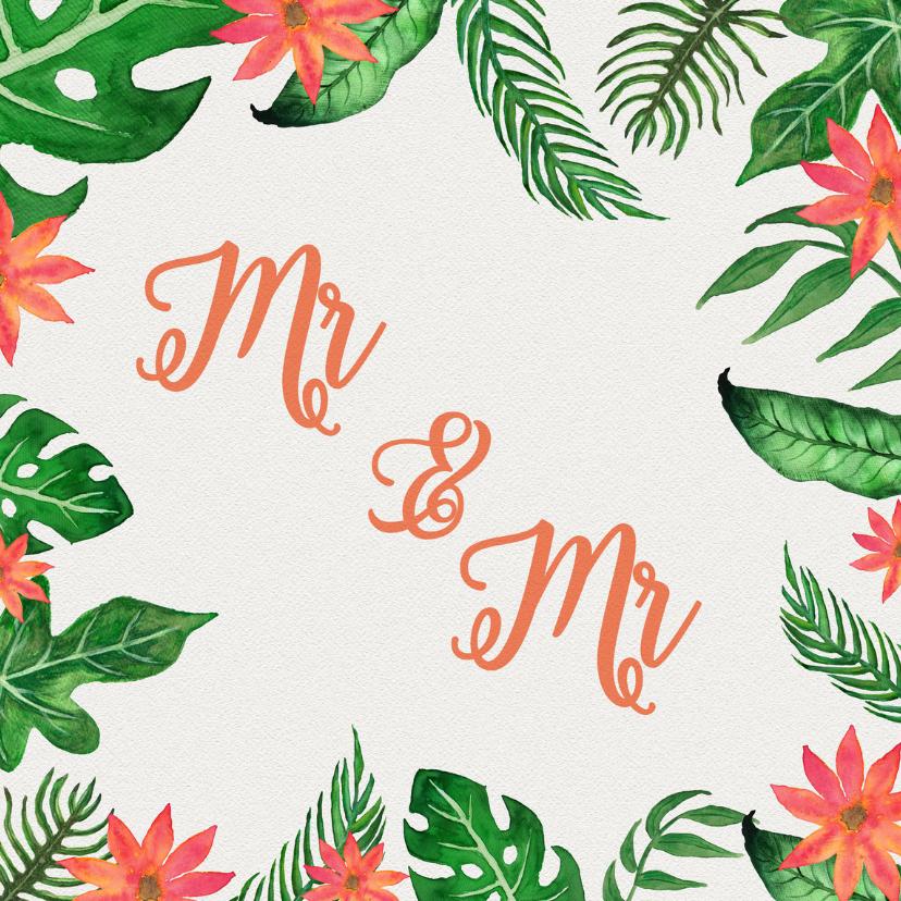 Trouwkaarten - Tropical Mr Mr - DH