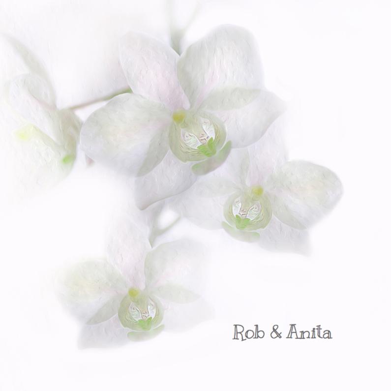 Trouwkaarten - Trouw met orchidee-groen-