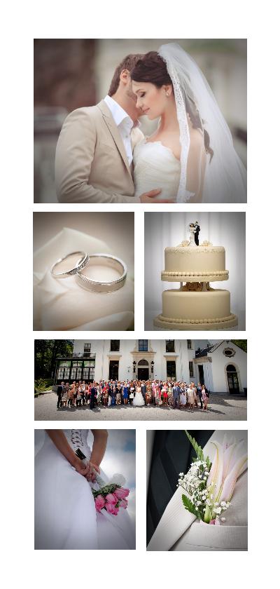 Trouwkaarten - Trouwen collage 6 foto's