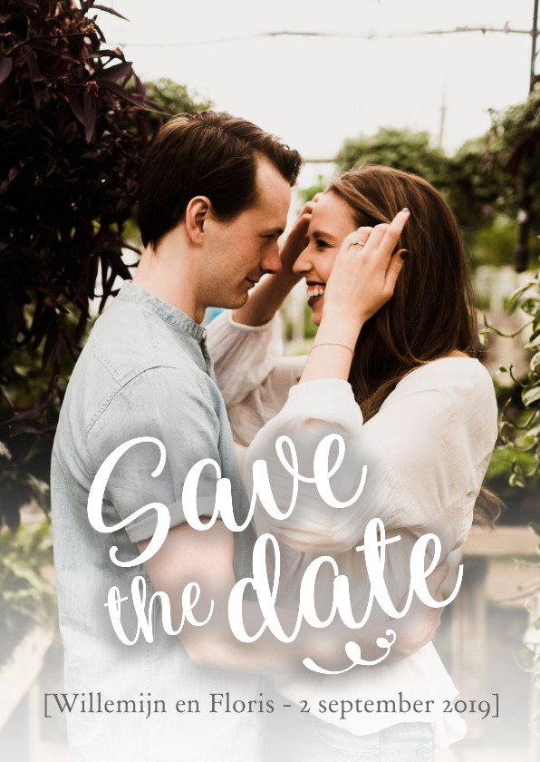 Trouwkaarten - Trouwen save the date met foto