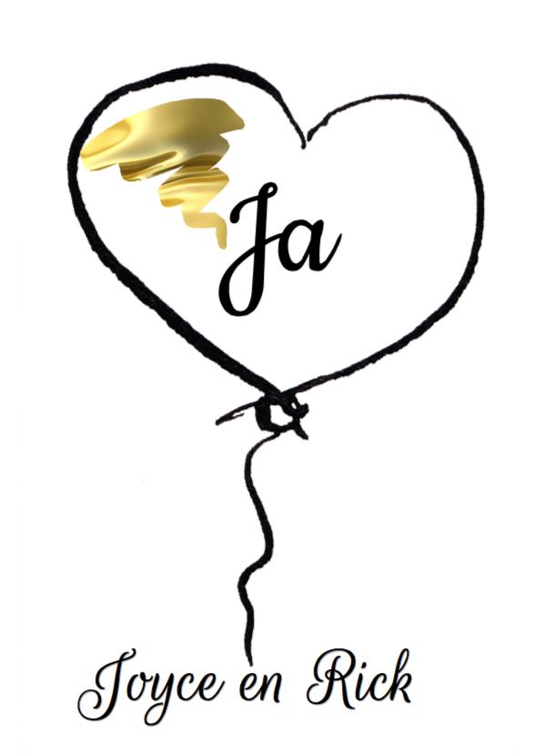 Trouwkaarten - trouwkaart Ballonnen