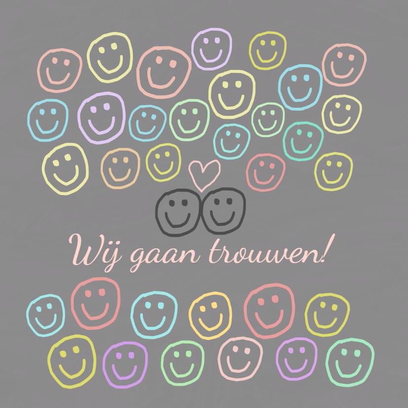 Trouwkaarten - Trouwkaart I fell in love IW