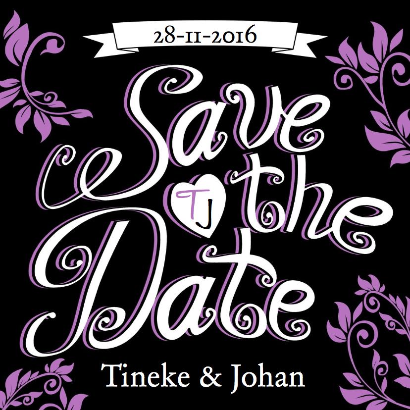Trouwkaarten - Trouwkaart Save the Date - HE