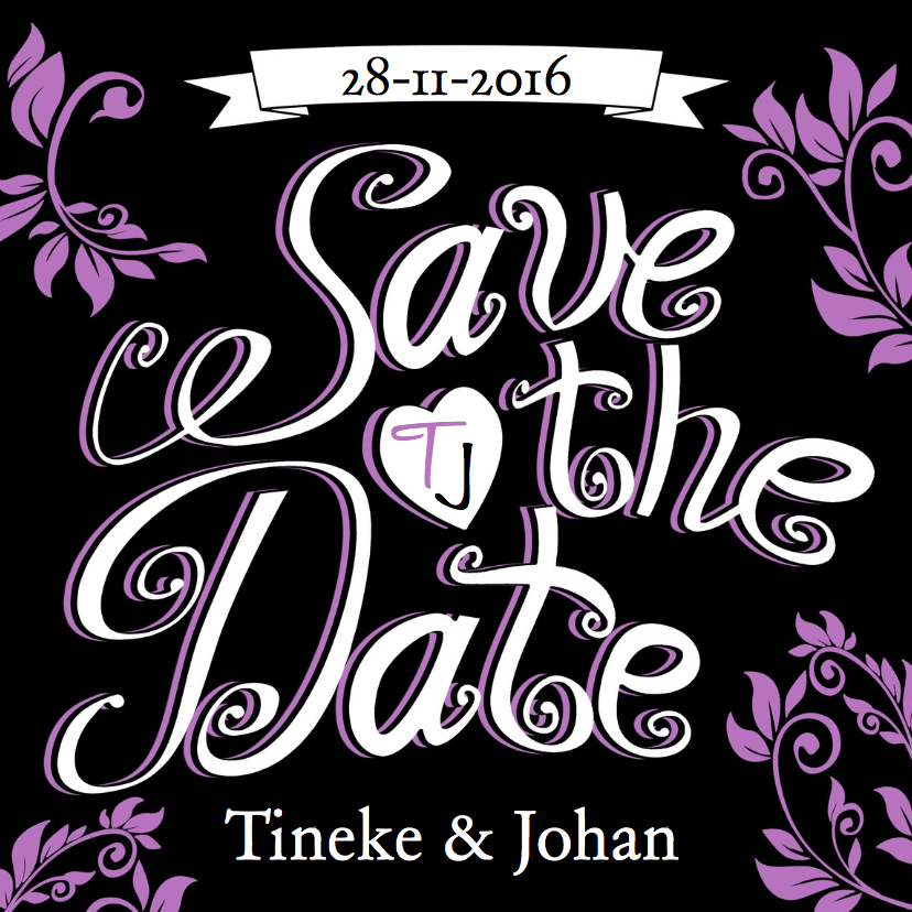 Trouwkaarten - Trouwkaart Save the Date - HE