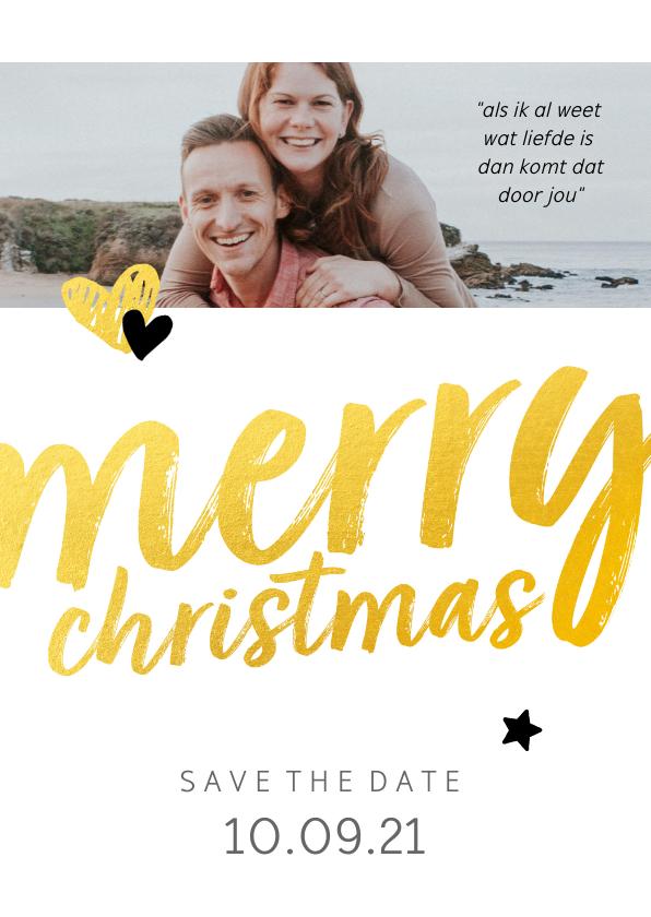 Trouwkaarten - Trouwkaart - save the date merry christmas