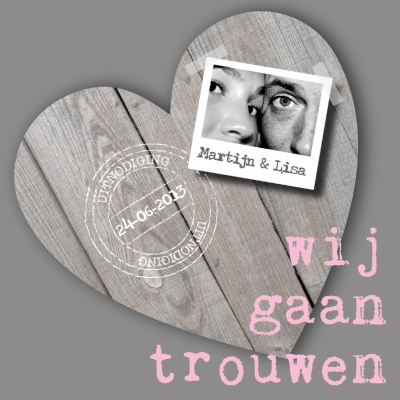 Trouwkaarten - Trouwkaart Stoer & Lief