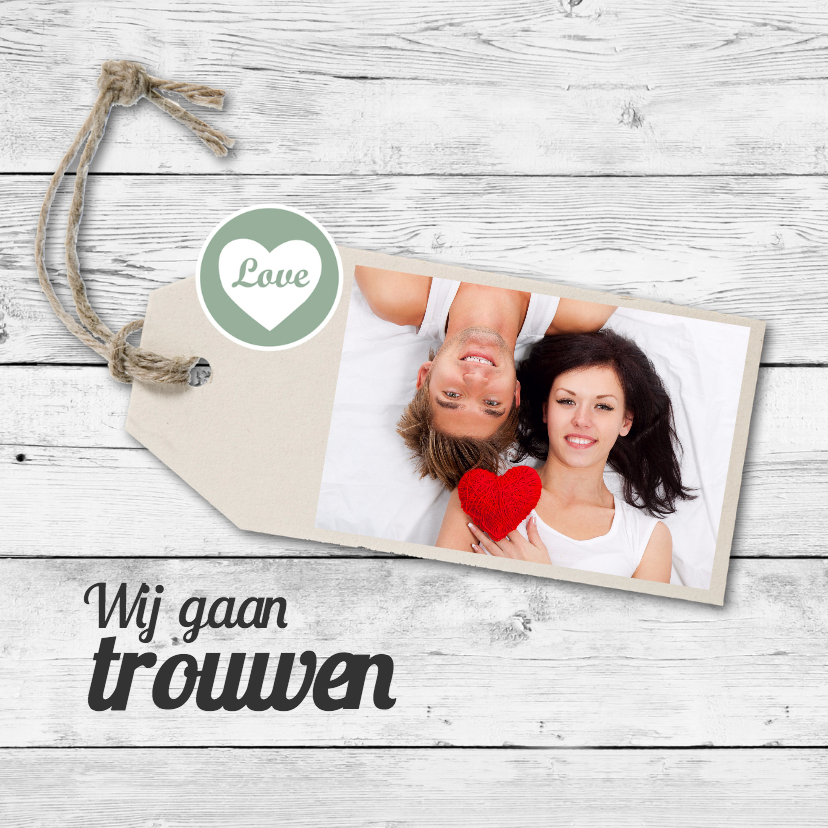 Trouwkaarten - Trouwkaart Tom en Susanne