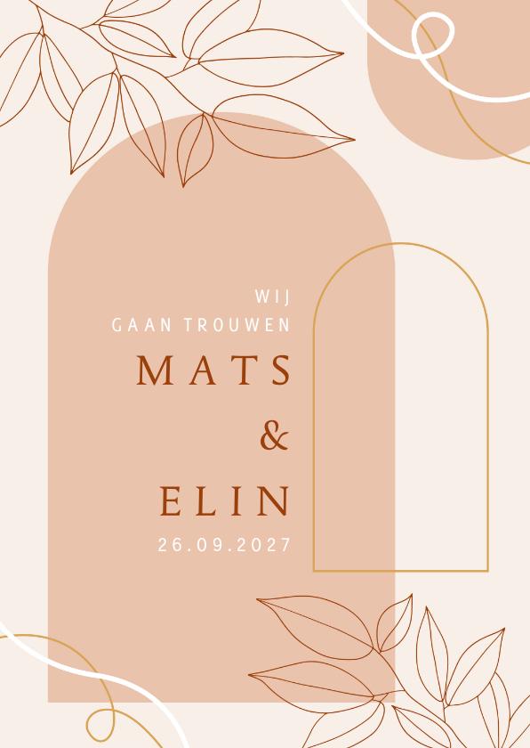 Trouwkaarten - Trouwkaart wij gaan trouwen abstract