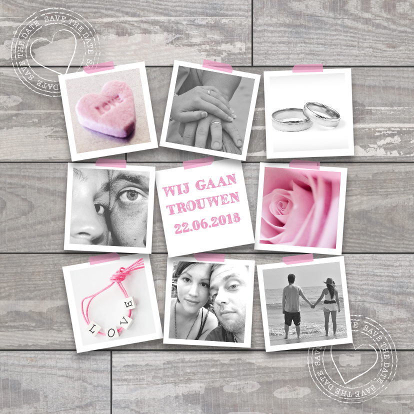 Trouwkaarten - Trouwkaart You & Me