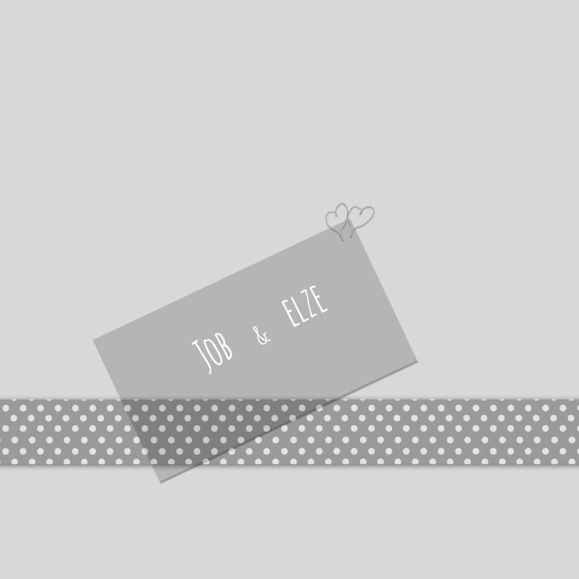 Trouwkaarten - Trouwkaarten Lint met stippen Y