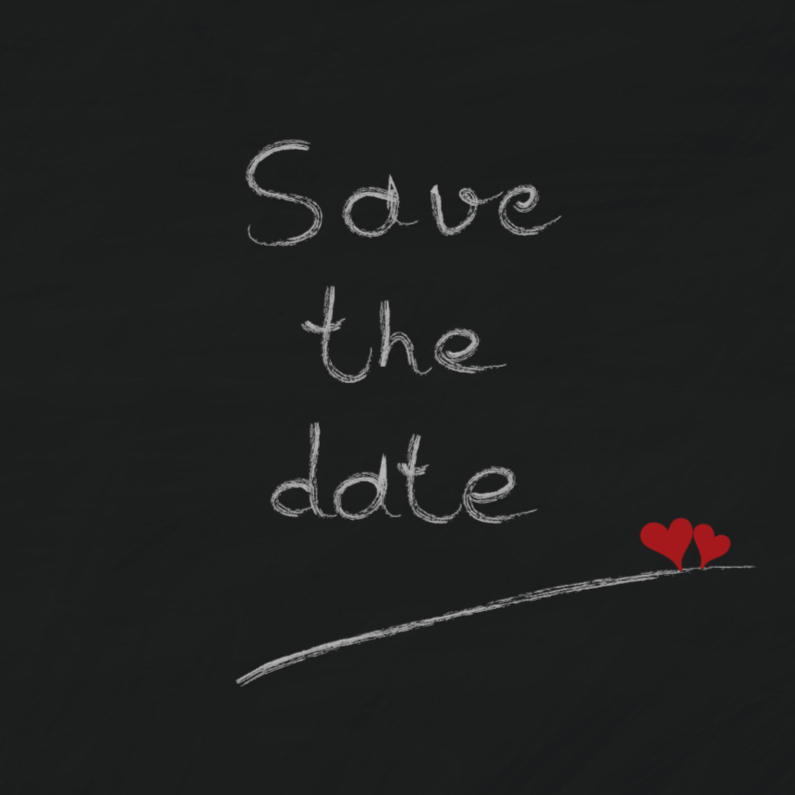 Trouwkaarten - Trouwkaarten Save the date Y
