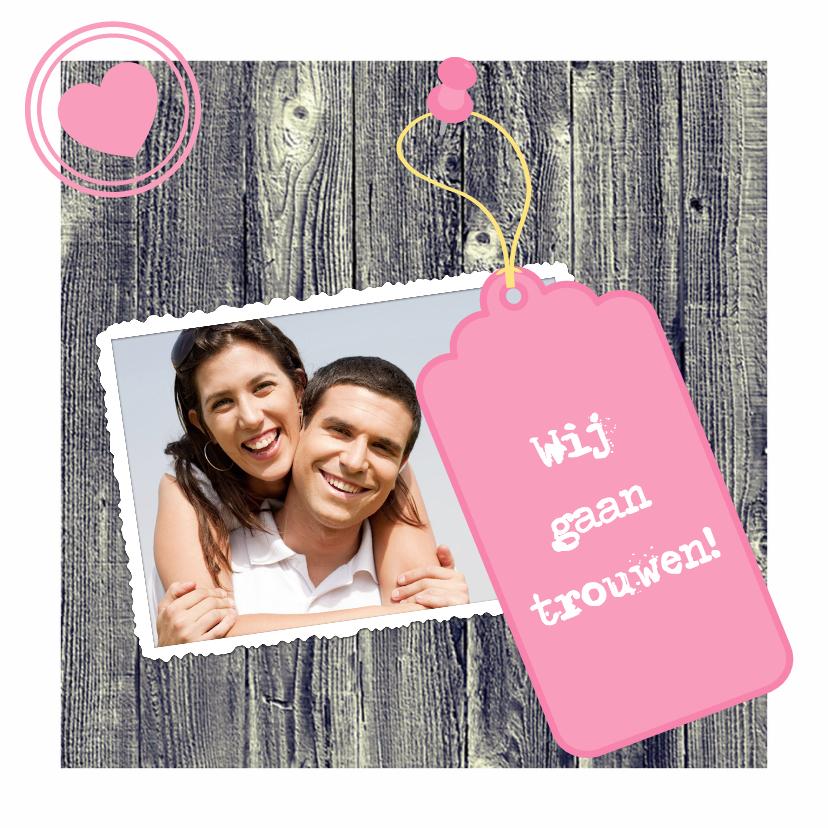 Trouwkaarten - Uitnodiging voor bruiloft - DH