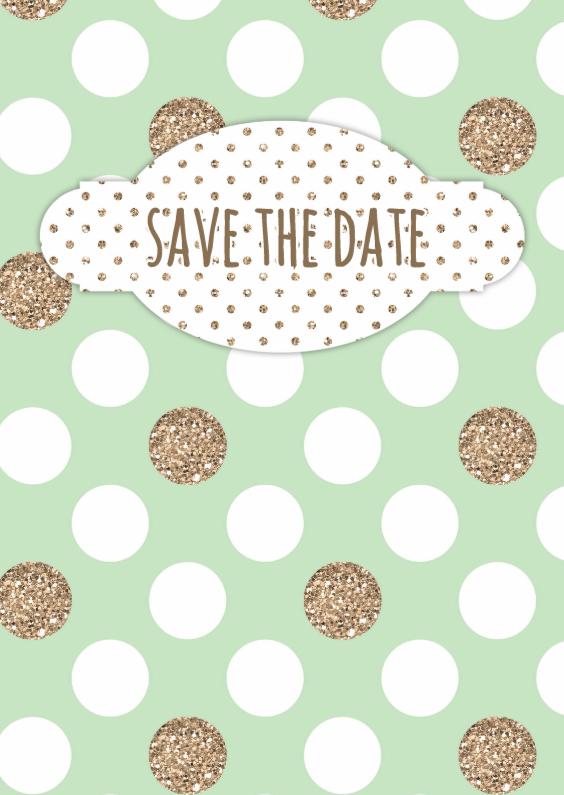Trouwkaarten - Uitnodigingskaartje datum