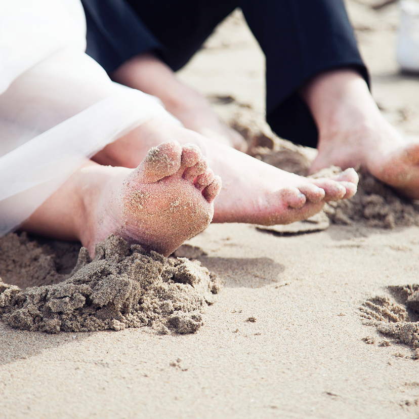 Trouwkaarten - wedding on the beach