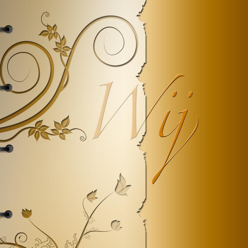 Trouwkaarten - Wij boek goud zelf invullen