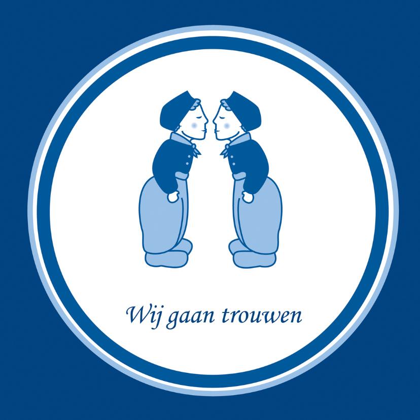 Trouwkaarten - Wij gaan trouwen Delftsblauw