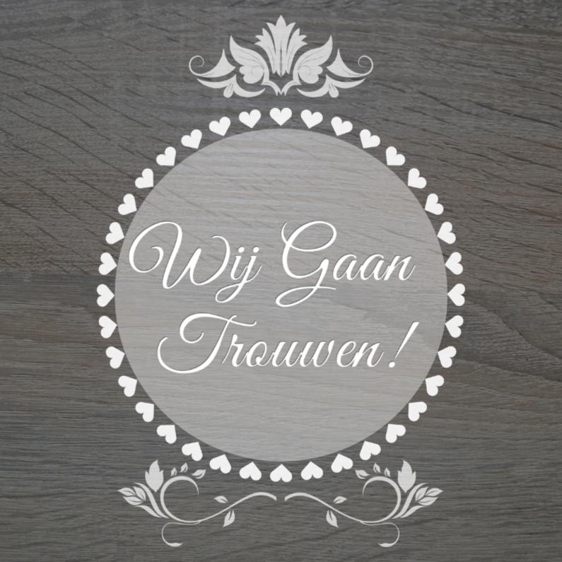 Trouwkaarten - Wij gaan trouwen floral
