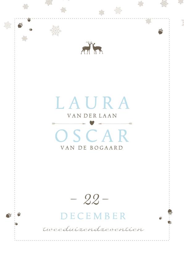 Trouwkaarten - Winterwedding | trouwkaart winters