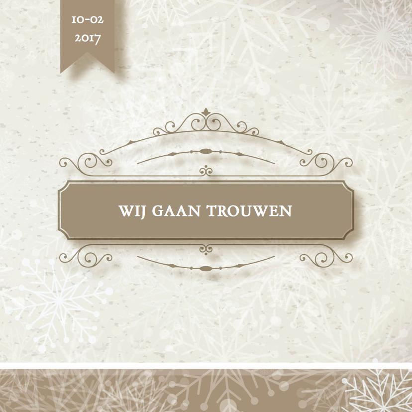 Trouwkaarten - Winterwonderland trouwkaart