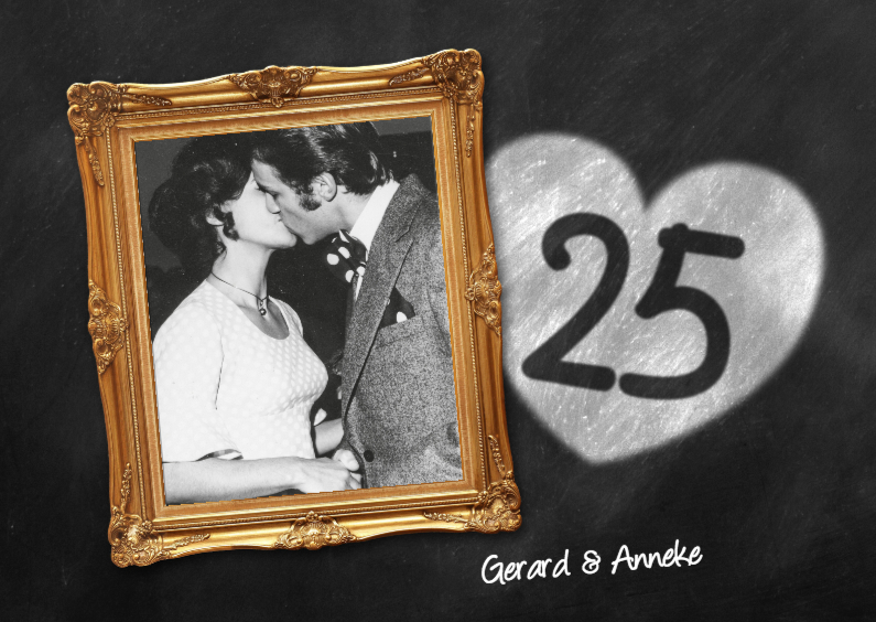 Uitnodigingen - 25 jaar huwelijk fotolijst