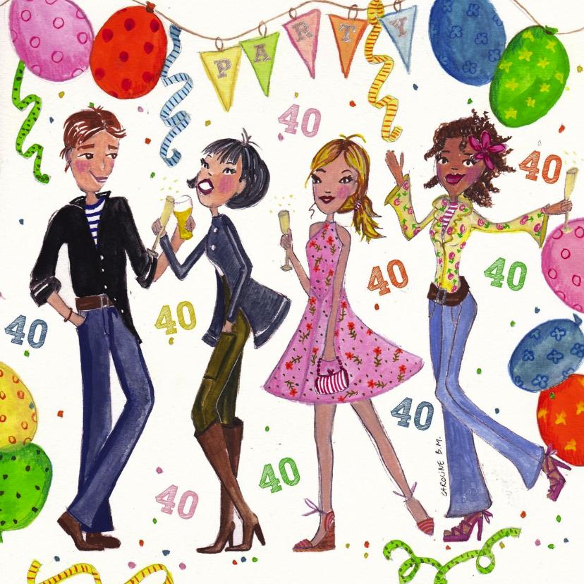 Voorkeur 40 jaar Feest by Cartita Design - Uitnodigingen | Kaartje2go &KP63