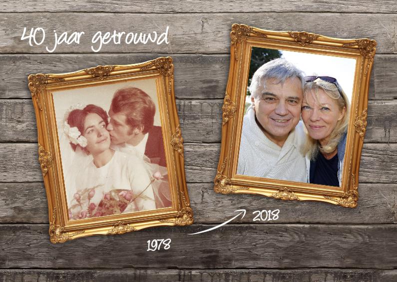 Uitnodigingen - 40 jaar getrouwd - dubbele lijst