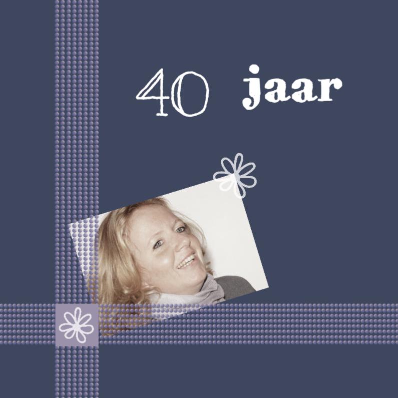 Uitnodigingen - 40 ste verjaardag in paars