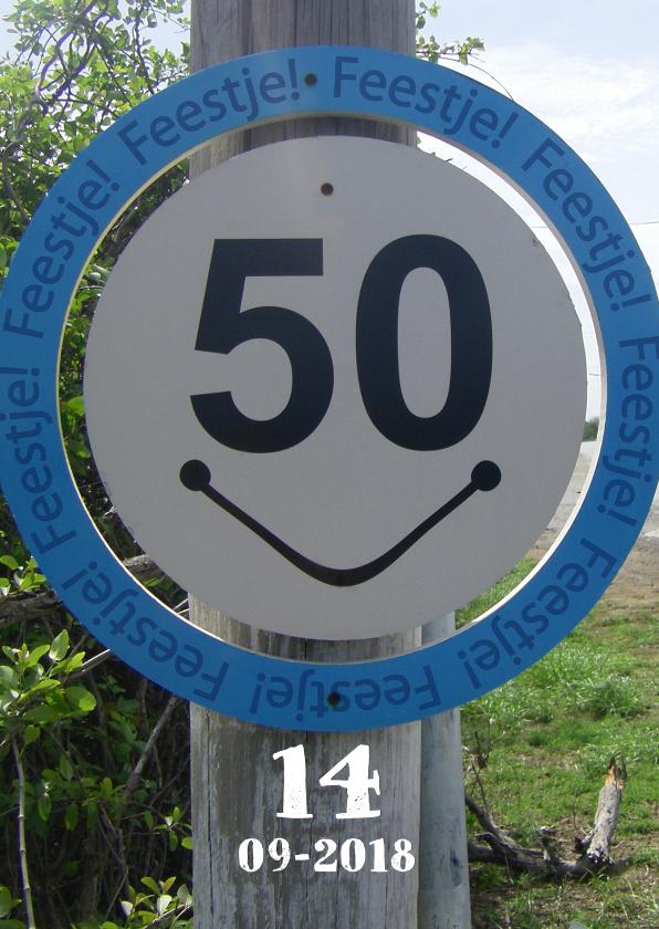 Uitnodigingen - 50 uitnodiging Bord SMILE