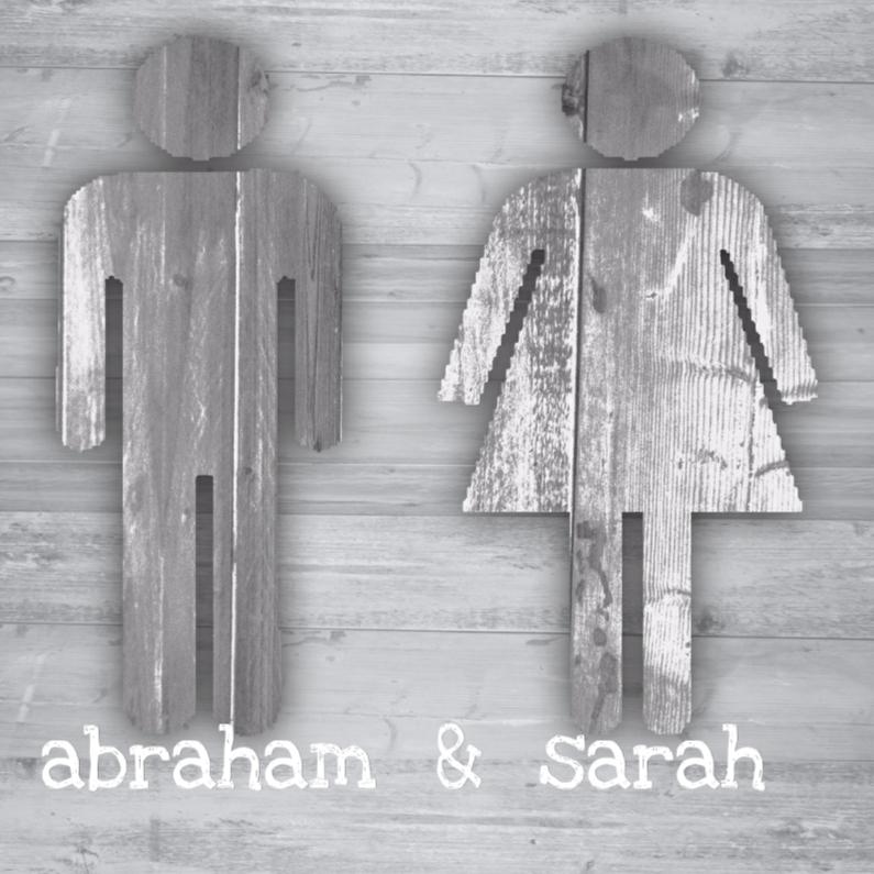 Uitnodigingen - abraham en sarah hout