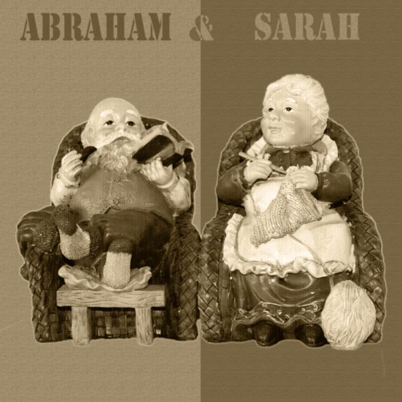 Uitnodigingen - abraham en sarah