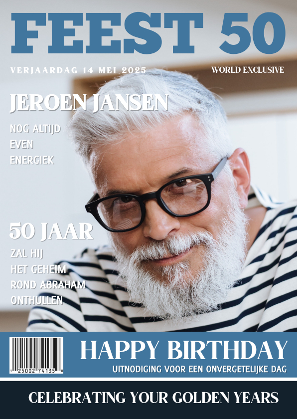 Uitnodigingen - Abraham Uitnodiging 50 jaar Tijdschrift