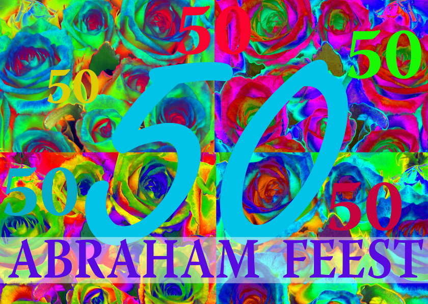 Uitnodigingen - Abraham Uitnodiging Bloemencollage