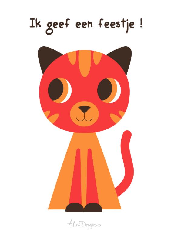 Uitnodigingen - ANIMALS-cat-2