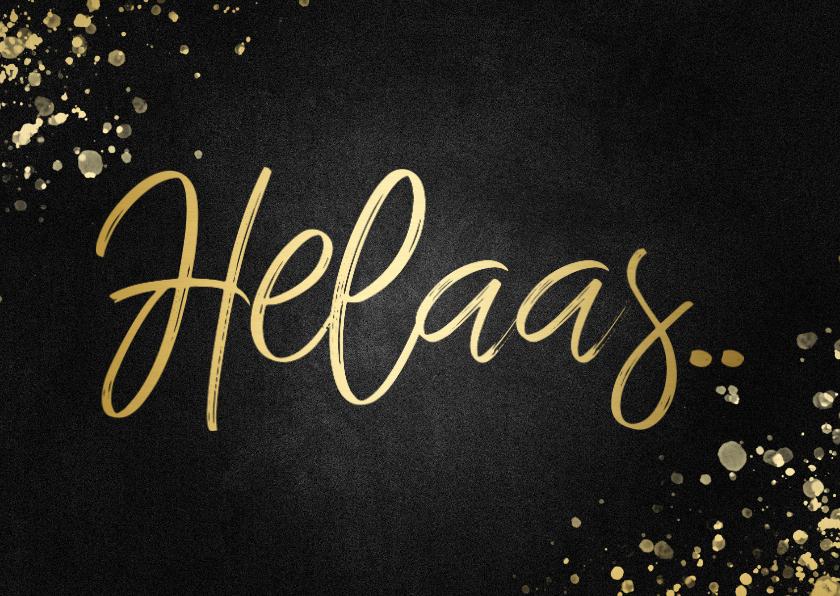 Uitnodigingen - Annuleringskaartje helaas vierkant goud met spetters