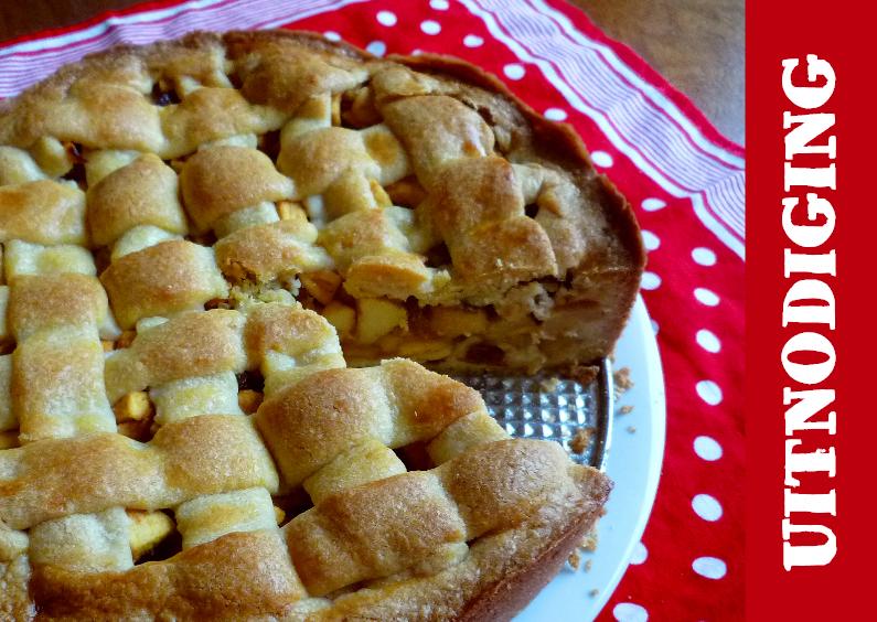 Uitnodigingen - appeltaart staat klaar - uitnodiging